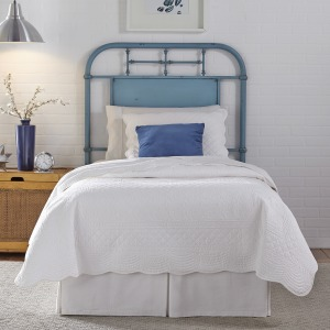 Vintage Series Twin Metal Headboard - Blue