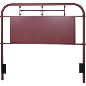 Vintage Series Twin Metal Headboard - Red