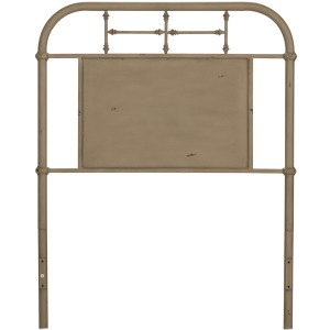 Vintage Series Twin Metal Headboard - Vintage Cream