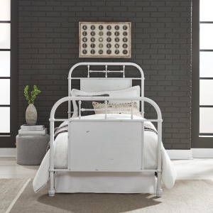 Vintage Series Twin Metal Bed - Antique White
