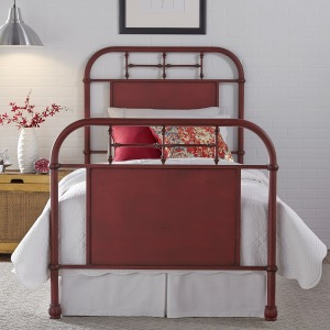 Vintage Series Twin Metal Bed - Red