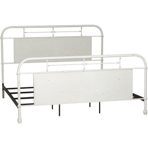 Vintage Series Queen Metal Bed - Antique White