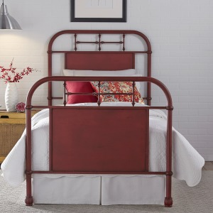 Vintage Series Full Metal Bed - Red