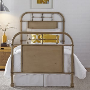 Vintage Series Full Metal Bed - Vintage Cream
