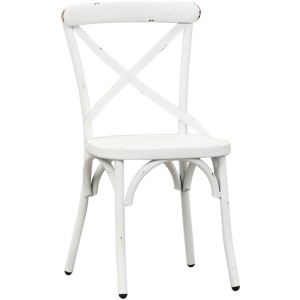 Vintage Series X Back Side Chair - Antique White