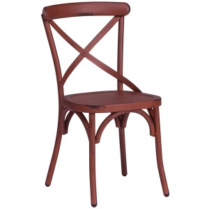 Vintage Series X Back Side Chair - Red