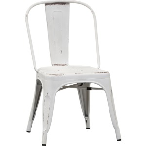 Vintage Series Bow Back Side Chair - Antique White