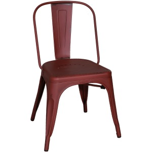 Vintage Series Bow Back Side Chair - Red