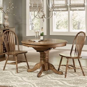 Carolina Crossing 3 Piece Round Table Set