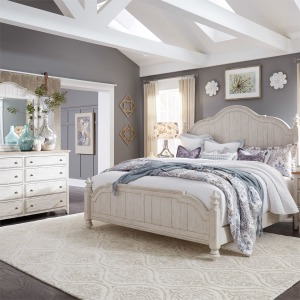 Farmhouse Reimagined Queen Poster Bed, Dresser & Mirror