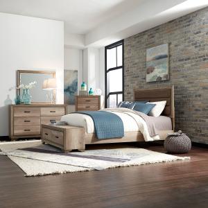 Sun Valley King California Storage Bed, Dresser & Mirror, Night Stand