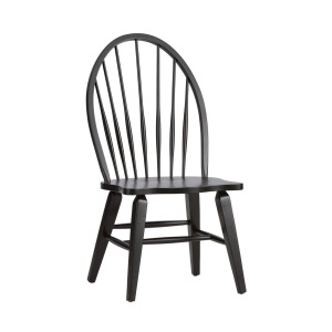 Hearthstone Ridge Windsor Back Side Chair - Black