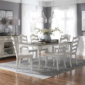 Magnolia Manor 7 Piece Leg Table Set