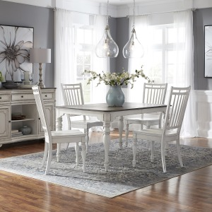 Magnolia Manor Opt 5 Piece Leg Table Set