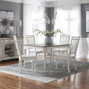 Magnolia Manor Opt 5 Piece Leg Table Set