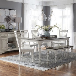 Magnolia Manor Opt 6 Piece Leg Table Set
