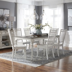 Magnolia Manor Opt 7 Piece Leg Table Set