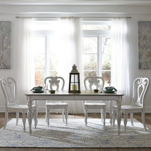 Magnolia Manor Opt 5 Piece Rectangular Table Set