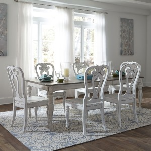 Magnolia Manor Opt 7 Piece Rectangular Table Set