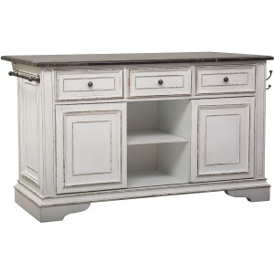 Magnolia Manor Kitchen Island with Granite