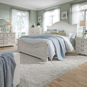 Bayside Queen Panel Bed, Dresser & Mirror, Night Stand