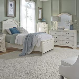 Bayside Twin Panel Bed, Dresser & Mirror