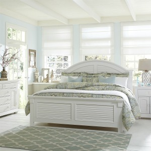 Summer House King Panel Bed, Dresser & Mirror, Chest, NS