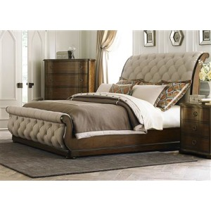 Queen Upholstered Sleigh Headboard