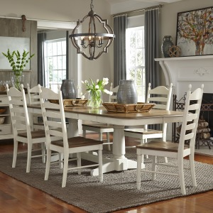 Springfield 7 Piece Double Pedestal Table Set