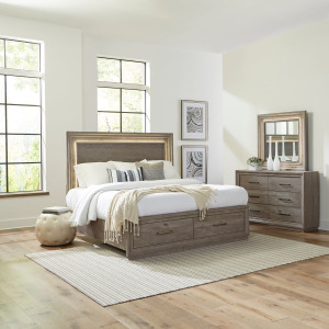 Horizons Queen Storage Bed, Dresser & Mirror