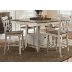 Al Fresco III Opt 5 Piece Gathering Table Set