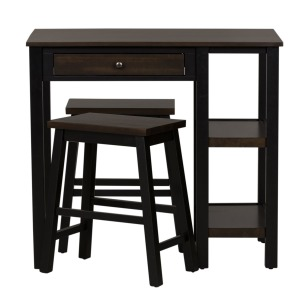 3 Piece Counter Set - Black & Chest