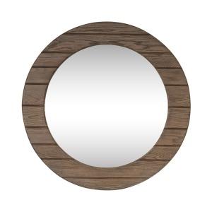 Heartland Round Mirror - Brown