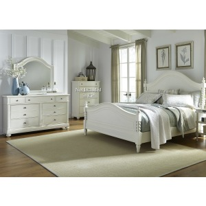Harbor View II Queen Poster Bed, Dresser & Mirror