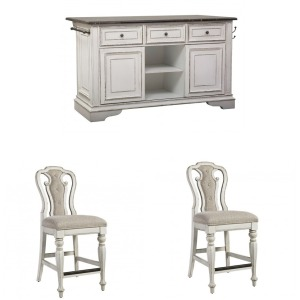 Magnolia Manor 3PC Counter Height Dining Set