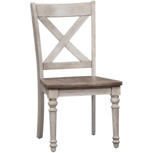 Cottage Lane X Back Wood Seat Side Chair (RTA)
