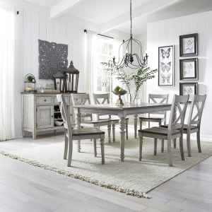 Cottage Lane 7 Piece Rectangular Table Set