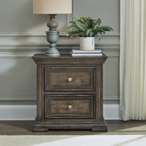 Big Valley 2 Drawer Night Stand w/ Charging Station