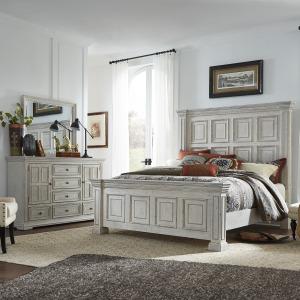 Big Valley King California Panel Bed, Dresser & Mirror