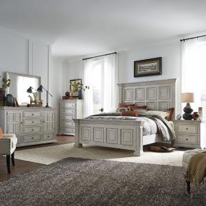 Big Valley King Panel Bed, Dresser & Mirror, Chest, Night Stand