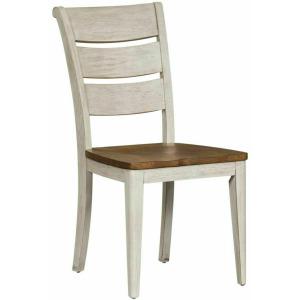 Farmhouse Reimagined Ladder Back Side Chair (RTA)