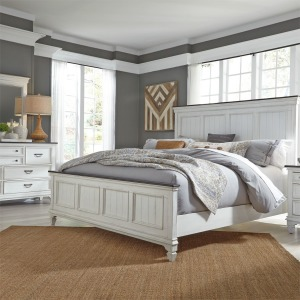 Allyson Park King California Panel Bed, Dresser & Mirror