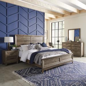 Ridgecrest King Panel Bed, Dresser & Mirror, Night Stand