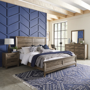 Ridgecrest Queen Panel Bed, Dresser & Mirror, Night Stand