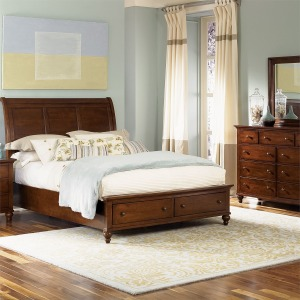 Hamilton Queen Storage Bed, Dresser & Mirror