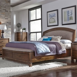 Avalon Queen Storage Bed, Dresser & Mirror