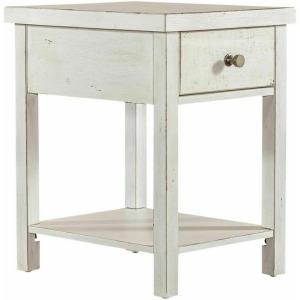 Modern Farmhouse Drawer Chair Side Table