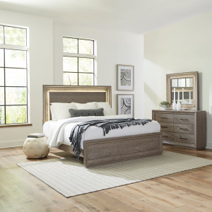 Horizons King Panel Bed, Dresser & Mirror