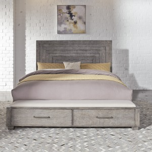 Modern Farmhouse King Storage Bed