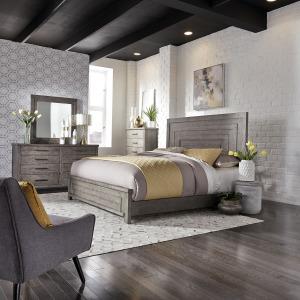 Modern Farmhouse Queen Panel Bed, Dresser & Mirror, Chest